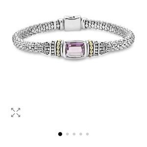 LAGOS Caviar Sterling And Gold Amethyst Bracelet